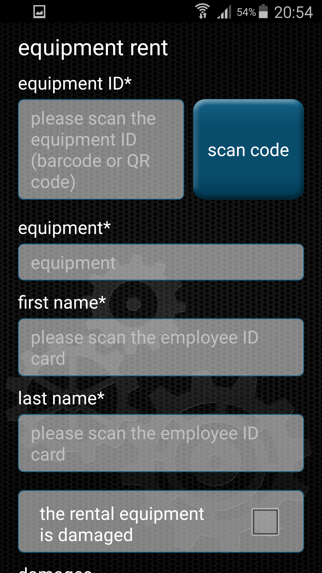 Equipment Manager | Efficiency in hire processes - Android